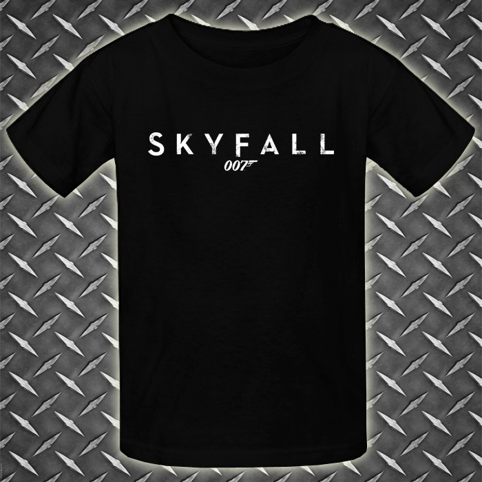 Item : 007 James Bond Skyfall Logo  New Black Youth Kids T-Shirt. Price : $21.69 Free Shipping to Worldwide. Desc. : T-Shirt Material is 6.1 Oz Heavyweight 100% Cotton, New, Never worn, Standard fit. T-Shirt Using DIRECT TO GARMENT (DTG) printing machine, printing quality is guaranteed. T-shirt sizes available are XS, M, L, & XL. You can contact me for order size and color you want.
