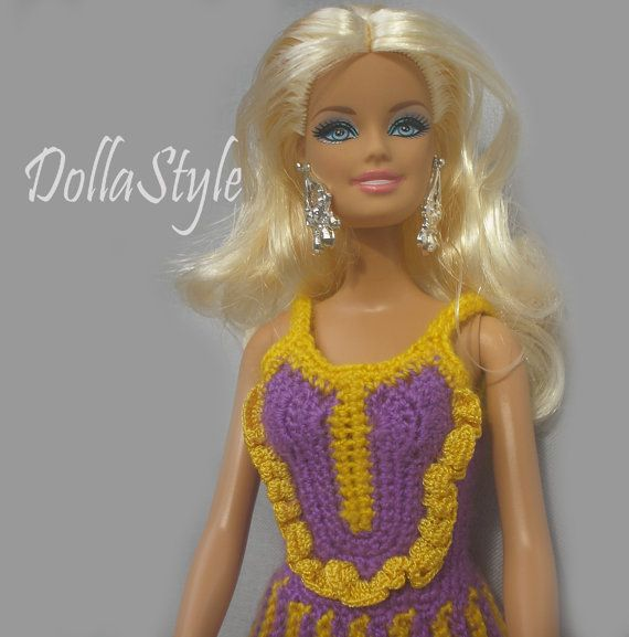 Crochet Barbie Clothes. Barbie Doll outfit 1/6 Scale by DollaStyle