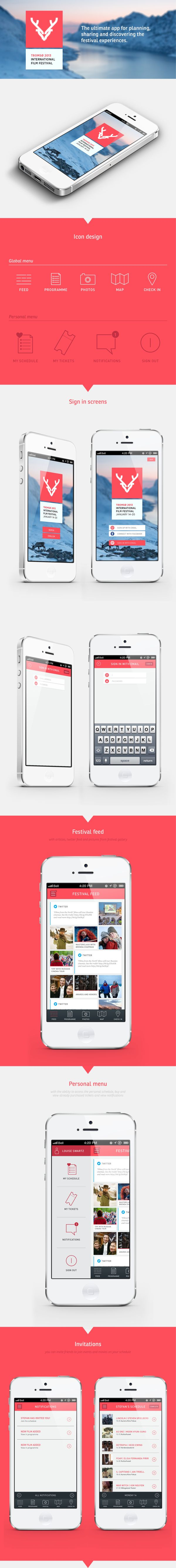 Festival app | Tromsø International Film Festival by Hanna Elise Haugerød