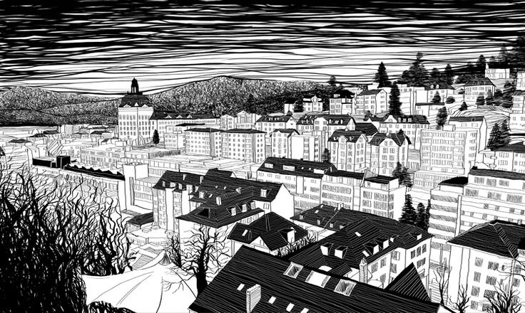Luzern, Switzerland  Materials: canvas, digital print, computer graphic Category: Digital Original size: (h) 60.5 * (w) 101.0 cm