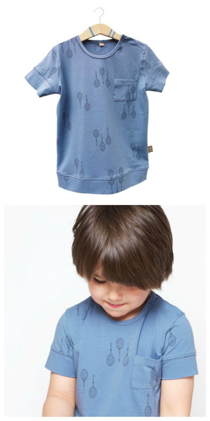 Rackets dusk-blue Tshirt- lötiekids