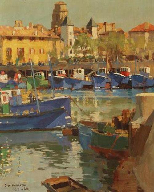 Maurice Roganeau. -Le port de Saint Jean de Luz