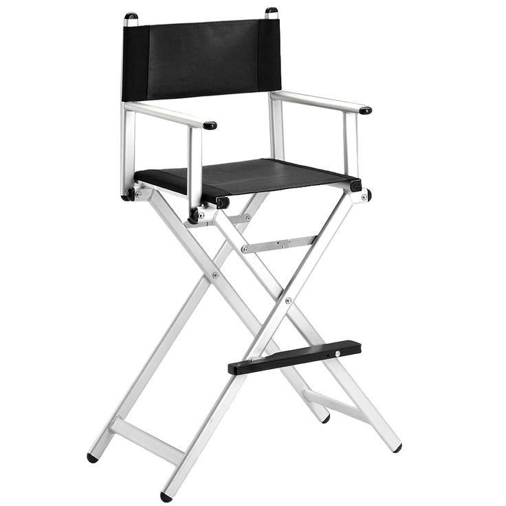 Eleven Aluminium/Leather Makeup Chair 75 cm
