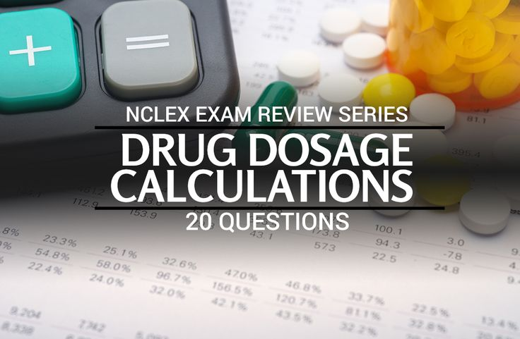 Free NCLEX practice questions all about drug dosage calculations and conversions. This quiz contains 20 NCLEX questions about dosage calculation.