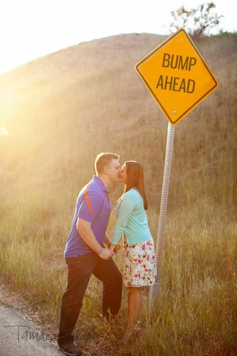 "Baby Announcement ""Bump Ahead"""