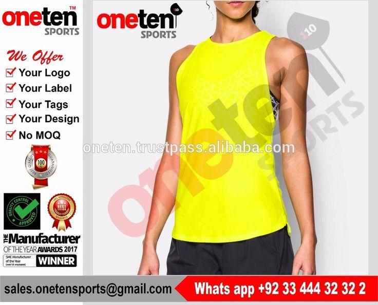95% Cottn 5% Spandex Plain Ladies Singlet Tops Custom Gym Wear Racerback - Ladies Gym wear
