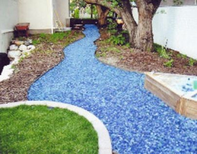 Recycled Glass Mulch Mixed With Concrete Or Epoxy To Create Long Wearing  Walkway