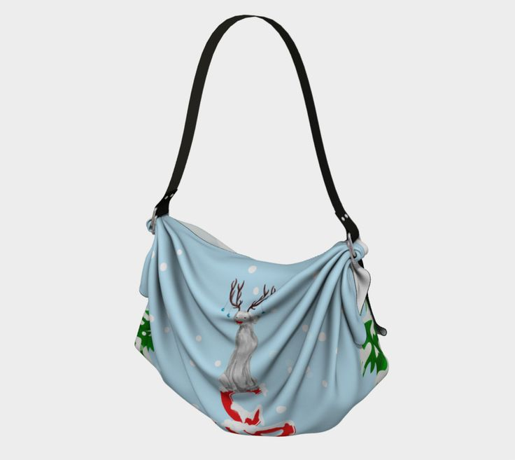 """Origami+Tote+""""CHRISTMAS+TIME+WEIMARANER""""+by+BLU+WEIM+DESIGNS"""