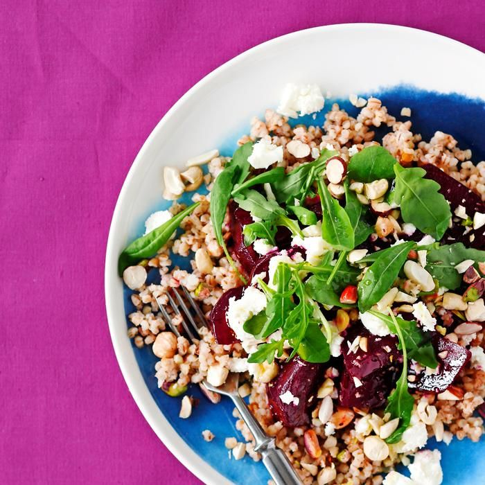 Warm salad with beets and feta cheese // www.maku.fi