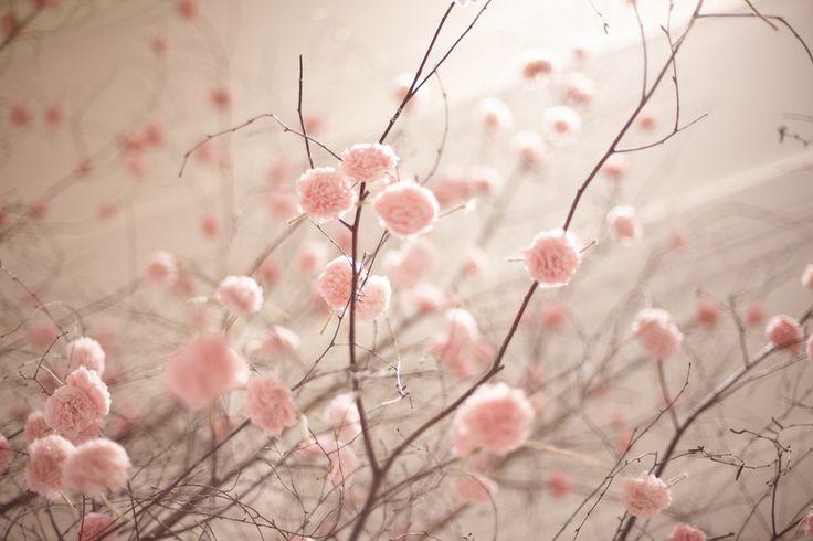 #Selfridges  Spring in the Wonder Room. Pom poms by Pom Pom Factory.   #Pink #Flowers