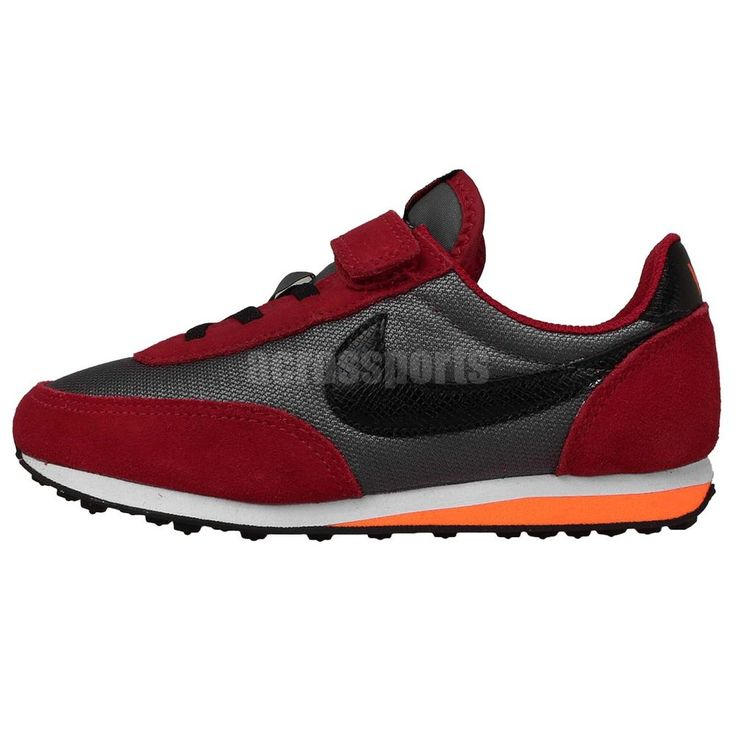 Nike Elite PS Grey Red Preschool Boys Velcro Running Shoes Sneakers  http://www