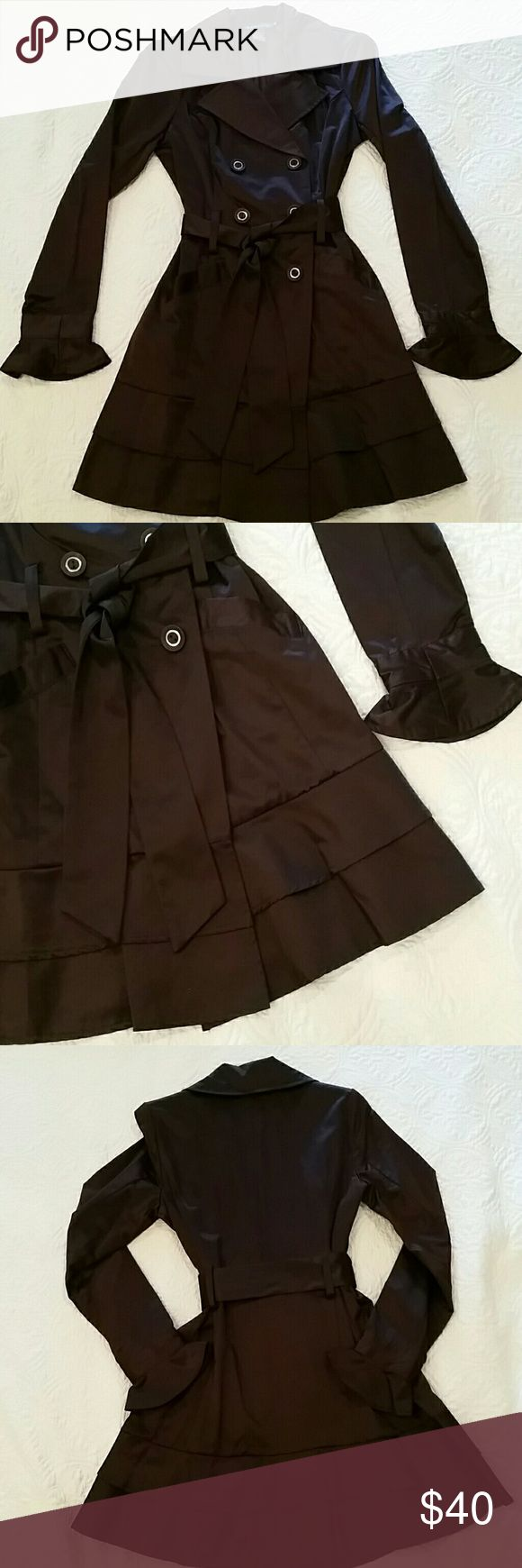Brown trench coat Light weight trench coat. Never worn. Rampage Jackets & Coats Trench Coats