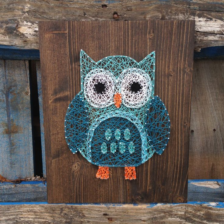 String Art Owl Sign by TheHonakerHomeMaker