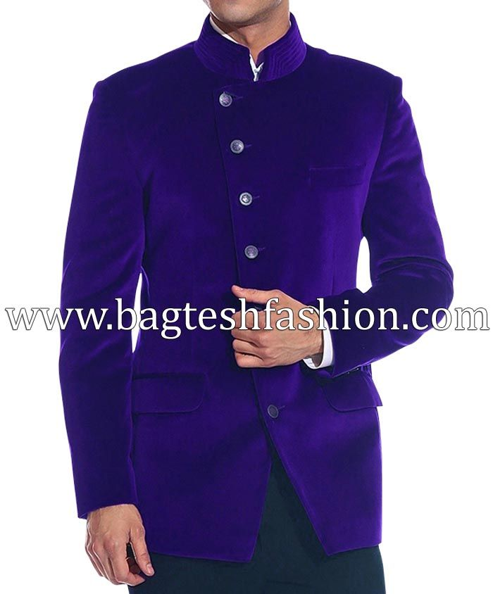 Angrakha Style Mandarin Collar Jacket