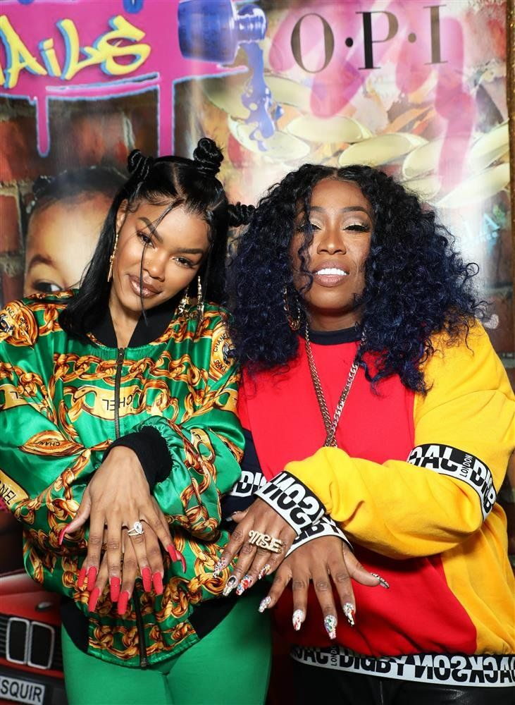 Teyana Taylor and Missy Elliot | See Gabrielle Union, Diddy, Michael B. Jordan, Letitia Wright Cardi B, Danielle Brooks and other celebrity pics of the week.
