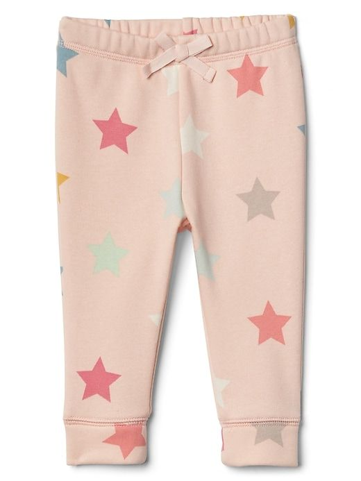 Gap Baby Starry Fleece Pants New Sheer Pink