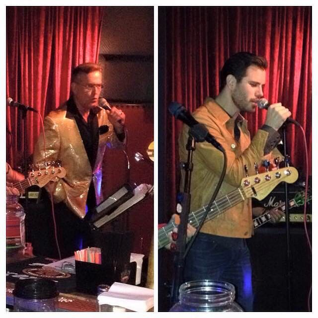 Bruce Campbell and son Andy doing karaoke at Ida's ...