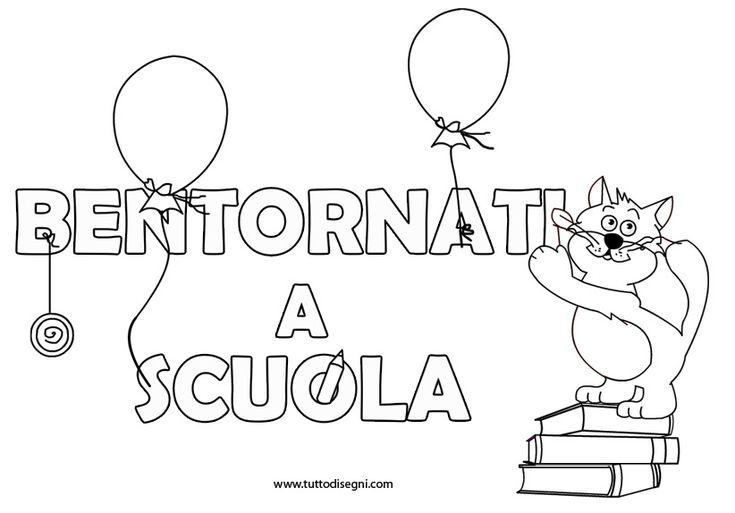 Bentornati a scuola con il disegno di Gatto Matto - TuttoDisegni.com