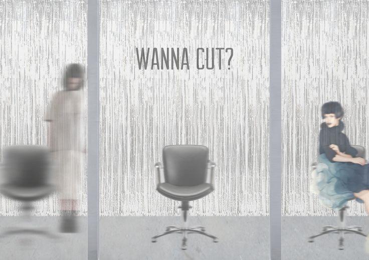 """Check out my @Behance project: """"WANNA CUT?"""" https://www.behance.net/gallery/48456871/WANNA-CUT"""