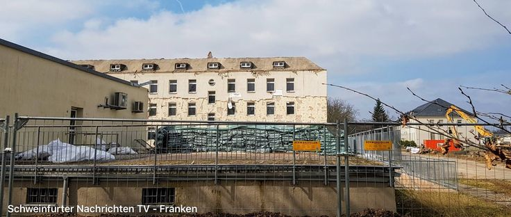 Ledward Barracks.  Basement next to Dispensary in the foreground.  Seen on Schweinfurter Nachrichten-TV Franken.