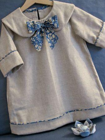 Jolie petite blouse (patron citronille) Le noeud contrastant est très stylé