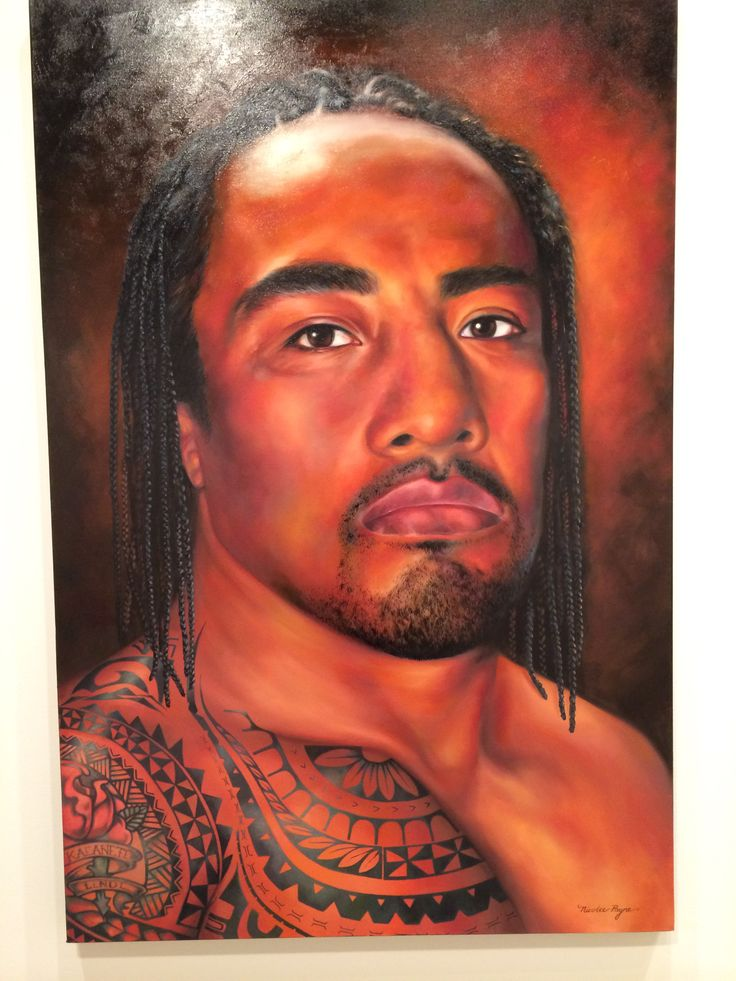 Fui fui paintedby n payne For 2014 archibald prize. Stunning
