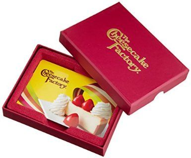 The Cheesecake Factory Gift Cards - In a Gift Box, 2016 Amazon Most Gifted Mother's Day  #Gift-Cards