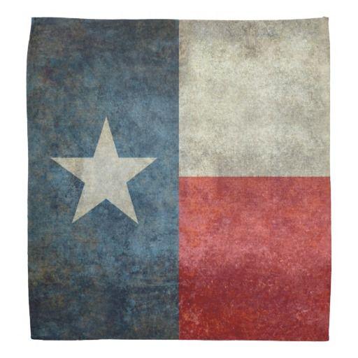 Texas state flag vintage retro style Bandana  #Texas #state #flag #retro, USA, #texasflag #texasstateflag #american #america #vintage #lonestarflag, #texan #retrostyle #Texanflag