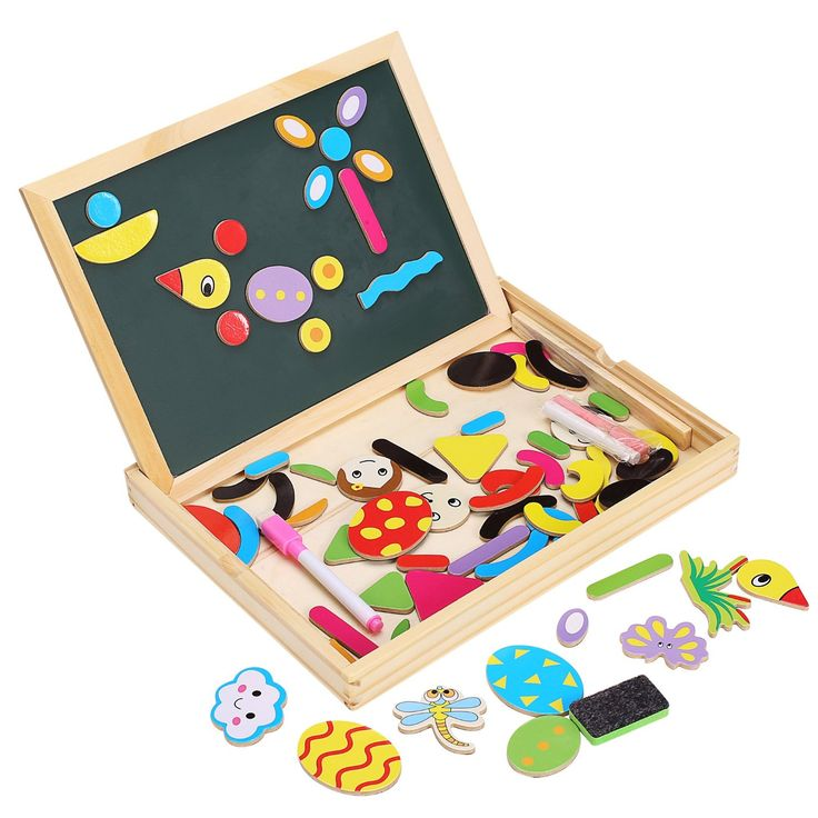 Arshiner Wooden Educational Deluxe Standing Puzzle Magnetic Boards Toys with Magnetic Shapes: Amazon.co.uk: Toys & Games