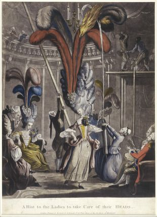 Burning Hair | This blog has an excellent history of 18thC Coiffures, it is well worth reading.