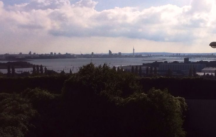 Overlooking Portsmouth from the bottom of Portsdown hill