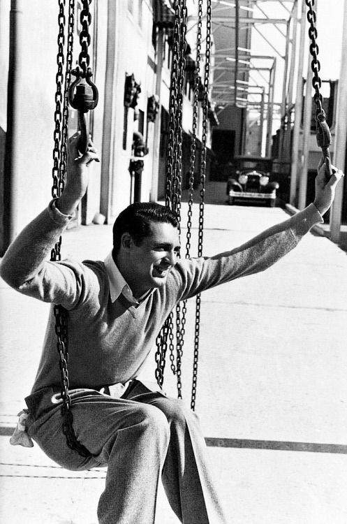 Cary Grant on the Paramount Pictures Studio lot, Los Angeles, 1932.