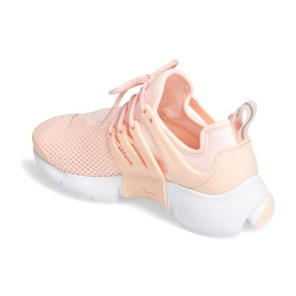 Women's Nike Air Presto Sneaker ($120) ❤ liked on Polyvore featuring shoes, sneakers, caged shoes, bright sneakers, bright shoes, bright colored sneakers and retro sneakers