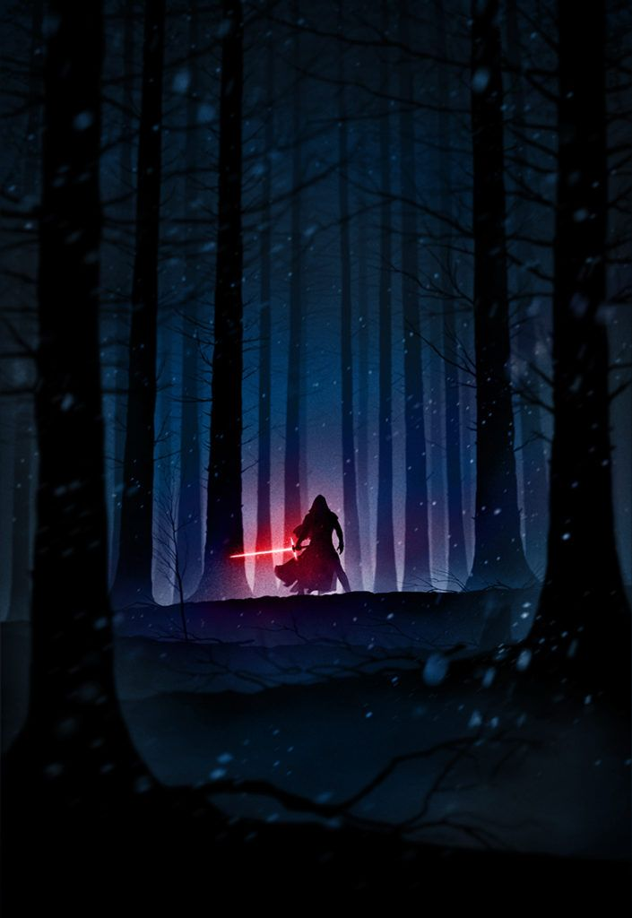 Star Wars iPhone Wallpaper The Force Unleashed Kylo Ren Marko Manev Color