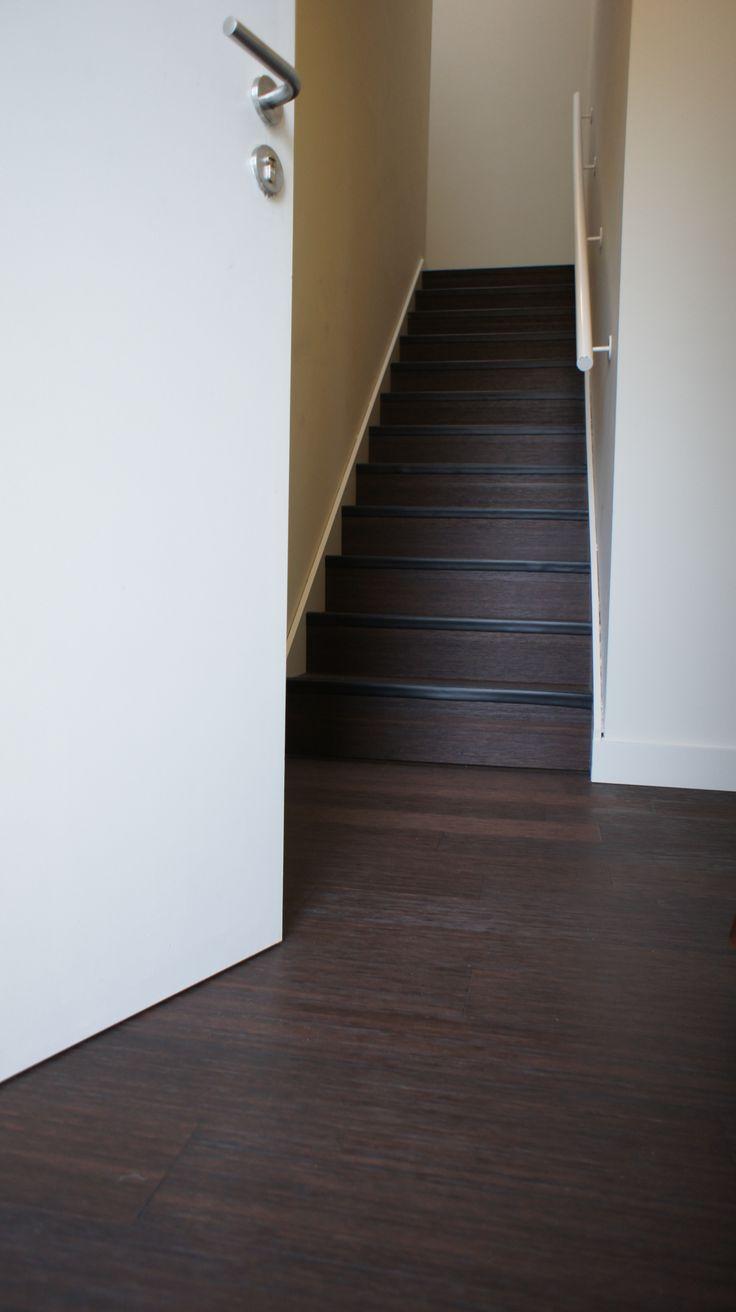 Bamboe vloer, geborsteld, trap