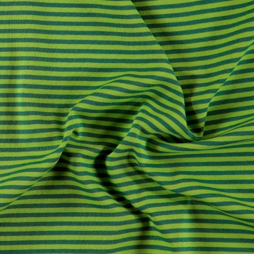 1x1 rib green/blue yarn dyed stripes - Stoff & Stil