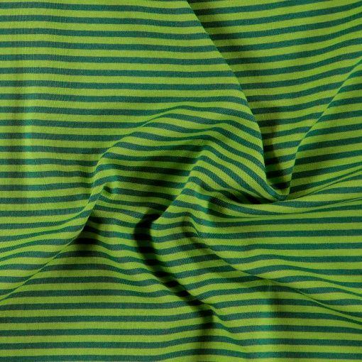 1x1 rib green/blue yarn dyed stripes - Stoff & Stil