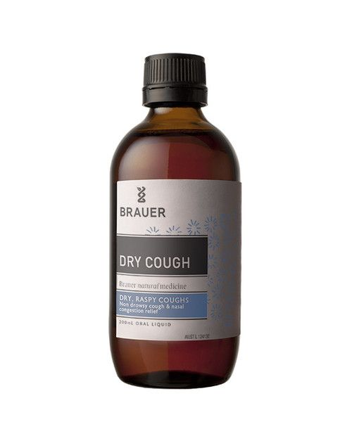 Dry Cough 200mL- Dry Cough Oral Liquid includes homeopathic Yellow Dock and other ingredients traditionally used in homeopathic medicine to help temporarily relieve dry, raspy, irritating coughs and nasal congestion.