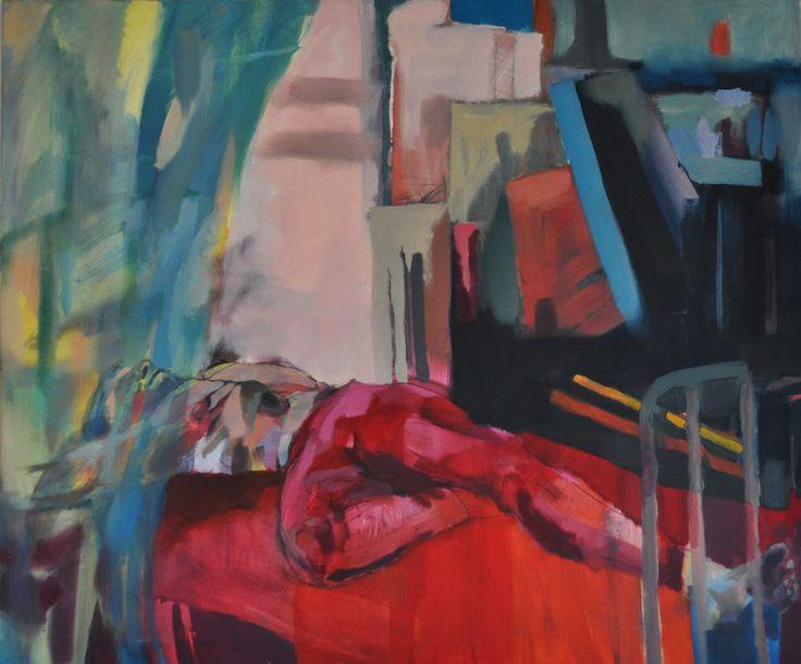 Odpoczynek, Joanna Cisek, 120 x 100, olej na płótnie,  2015
