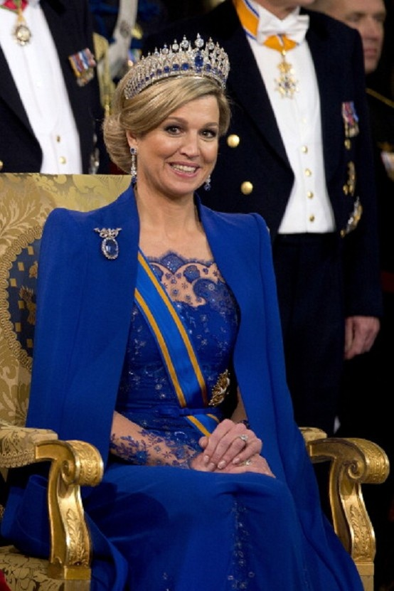 Queen Maxima during the inauguration ceremony.