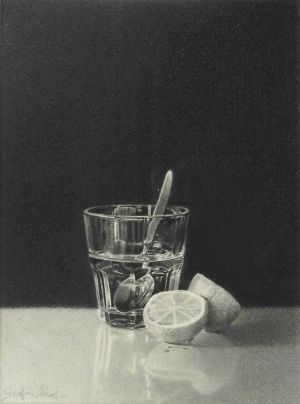 Geoff Williams, Gin and Tonic (2012) Graphite pencil on paper, 310 x 240 mm, POA at the Remuera Gallery