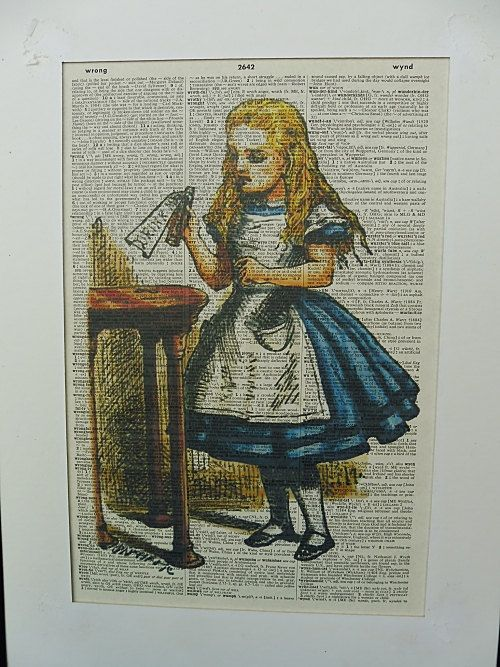 Alice in Wonderland Wall Art Print No.340 alice by DecorisDesigns