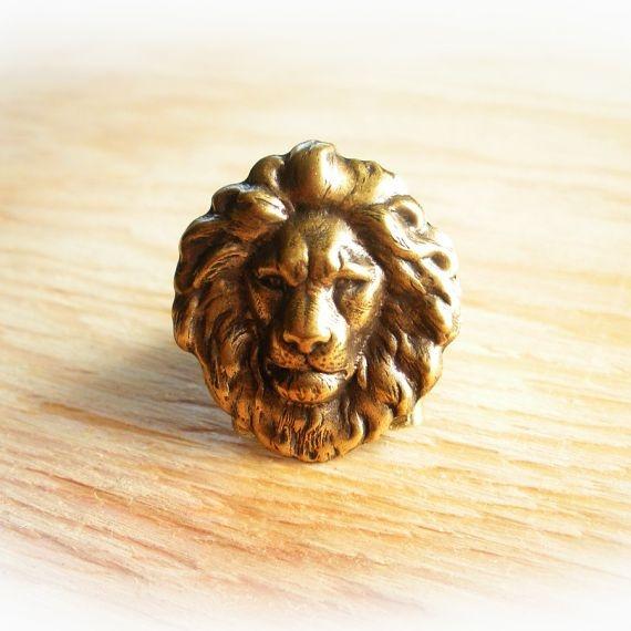 Simba Brass Lion Ring