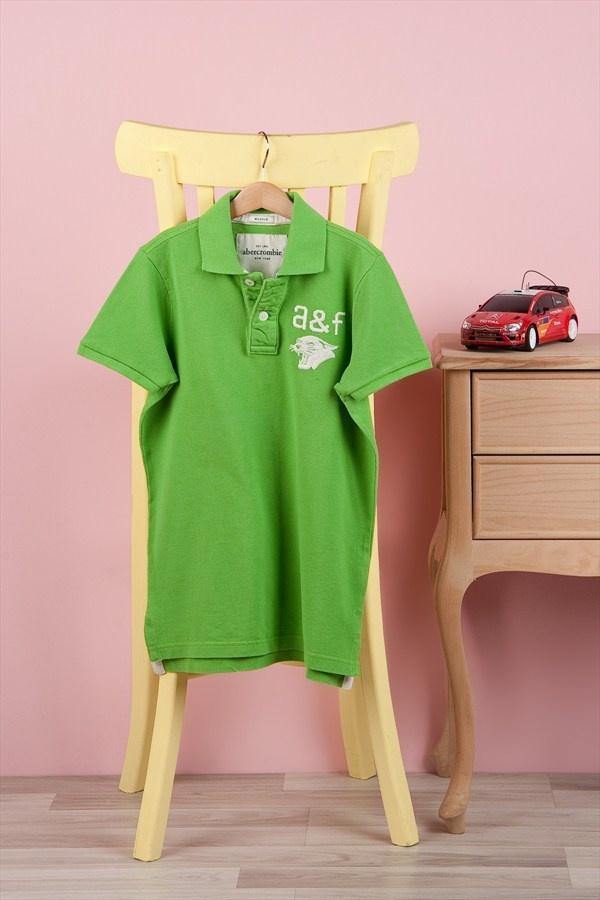 Abercrombie & Fitch & Hollister A Açık Yeşil Erkek Çocuk Polo Yaka T-Shirt  Trendyol'da