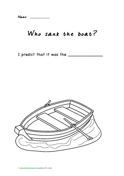 7 best Who Sank the Boat lesson ideas images on Pinterest