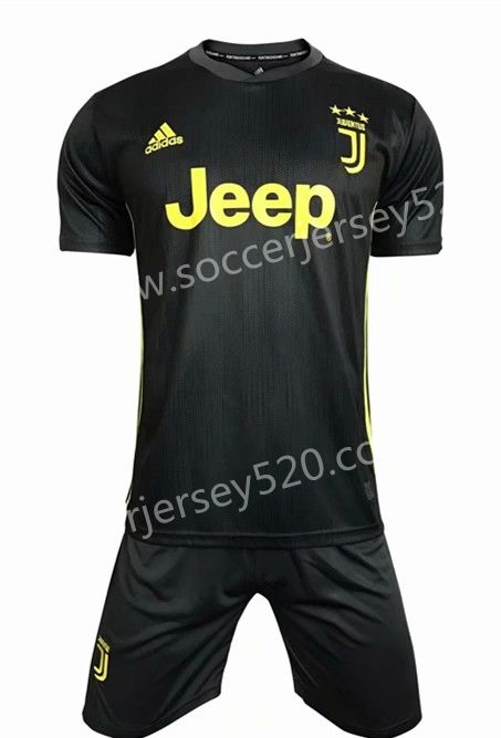 f3e9a3882 2018-19 Juventus 2nd Away Dark Gray Soccer Uniform | Cheap Soccer ...