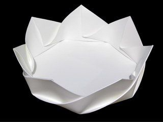 Fold – Origami Dish « Ponoko – Blog - I wonder if this could be done with paper?