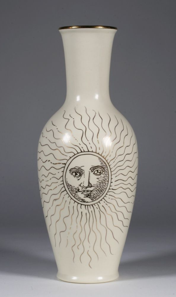 Los Angeles Pottery Laurie Gates Modern Gold Sun Face Vase