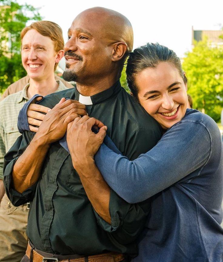 Friends ~ Jordan Woods-Robinson, Seth Gilliam, and Alanna Masterson ~Best of The Walking Dead