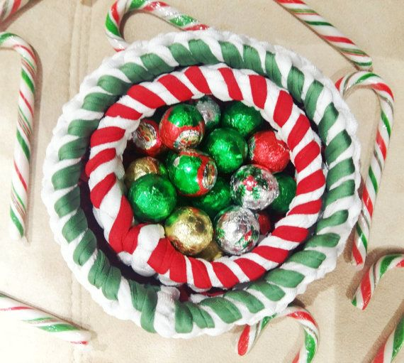 Holiday Basket  Christmas Baskets  Candy Cane by AichasDesigns